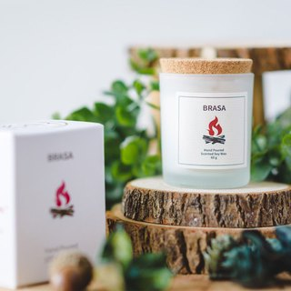 Swedish Design 60g Brasa Soy Wax Candle - Warm Woody Note
