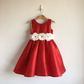 =Limited Edition= Diamond Red Taffeta V Neck Backless Dress