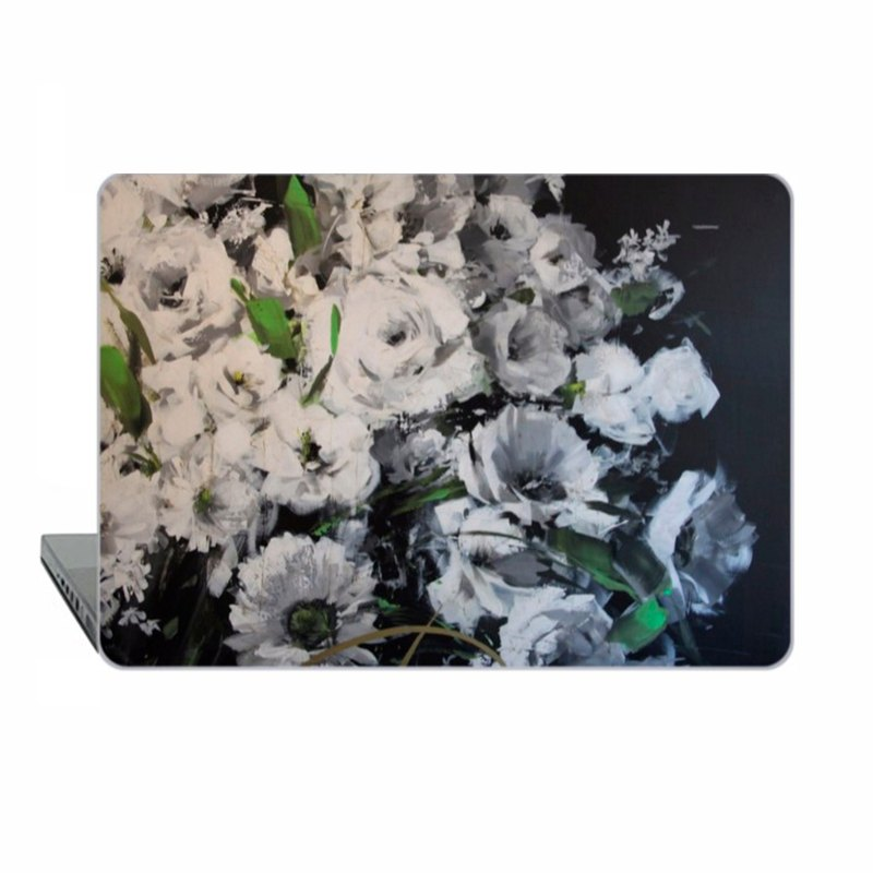 White flowers Macbook Pro 13 touch bar Case MacBook 15 Case floral Macbook 11 Macbook 12 Macbook Pro 13 Retina classic art Case Hard Plastic 1747