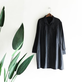 Niigata ink black embroidered sleeves log antique thin material windbreaker jacket trench_coat dustcoat