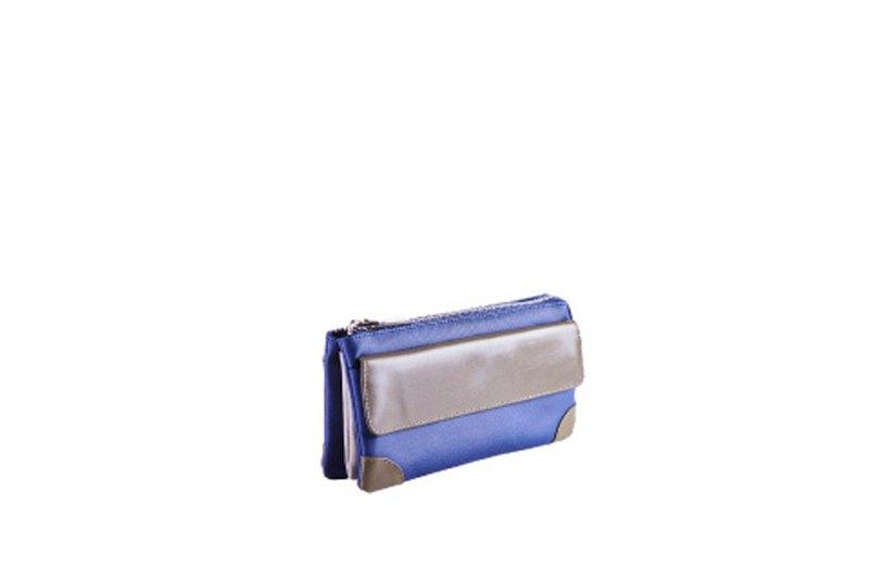 輕商旅 | 三層小萬用包 | 藍 | 外幣收納 | 收納控 | 手拿包