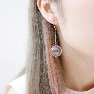 18K Rose Gold Pink 001 Bubble Bubbles Earrings