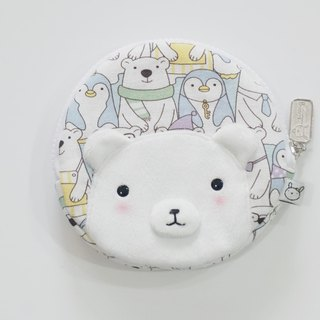 Bucute travel little helper round yuan wallet / polar bear good friend / limited /