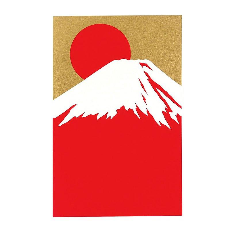 璀璨紅富士山高級和紙【Hallmark-卡片 經典和風/多用途】