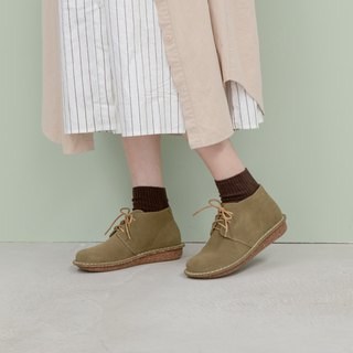 Round head short boots _ Army Green