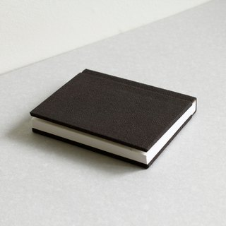 Small Size Sewn Board Bound Notebook – Black