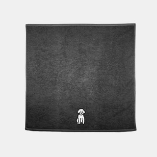 dogs embroidery bath towel