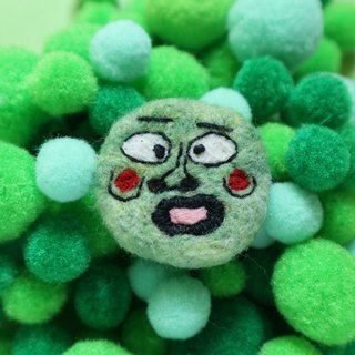 Thick lips and surprised expression ugly wool felt brooch