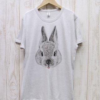 ronron RABIT Tee Beh (Heather White) / RPT 043 - HWH