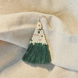 Forest Tassel Bead Earrings