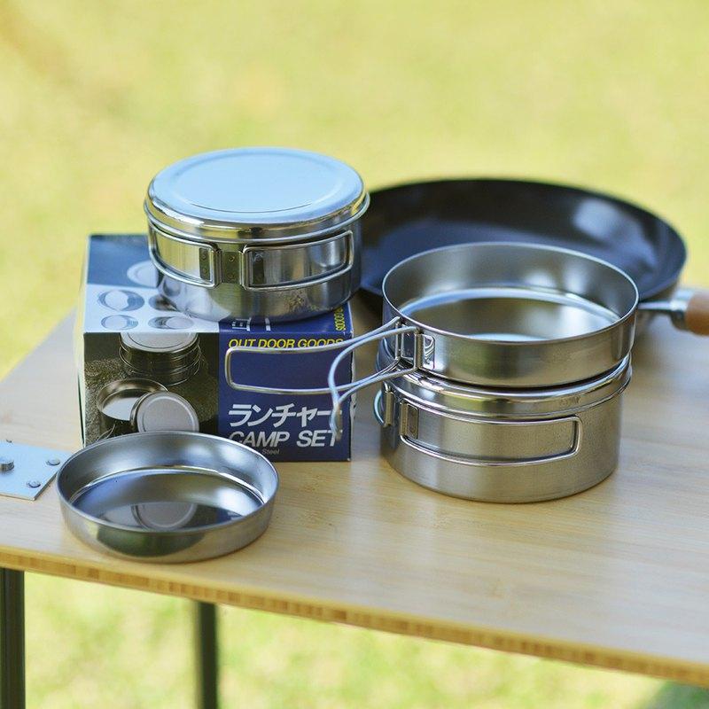 日本高桑金屬 日製不鏽鋼鍋碗盤萬用標準4件組