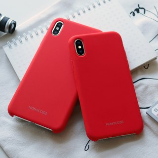 GRITTY | Liquid Silicon Stain Resistant Case for iPhone XS / XS Max - Red
