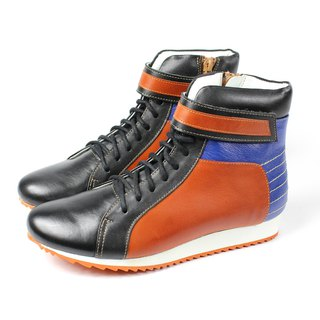 Blue orange tube casual shoes