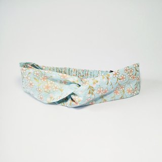 [Spring Cherry - light blue] handmade cross hair band hair band wild section