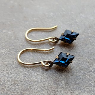 Dainty Blue Glass Earrings