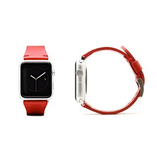SLG Design Apple Watch 1/2/3 42mm D7 IBL Top Leather Strap - Red