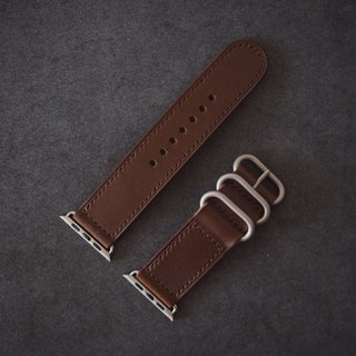 Apple Applewatch manual strap Italy imported Jiao brown leather handmade leather design custom