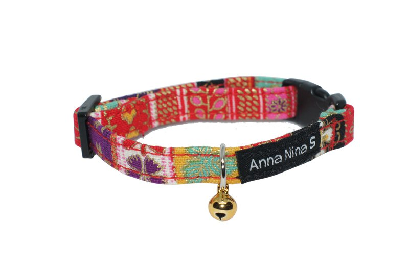 [AnnaNina] pet cat collar Japan red family emblem collar XS~M