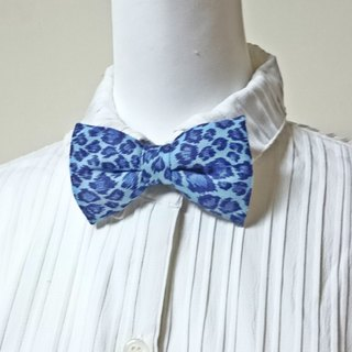 Blue leopard handmade three-dimensional bow tie bow tie*SK*