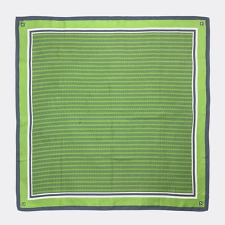 Green frame sawtooth antique silk scarf BH0012