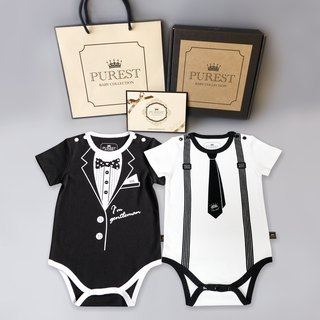 PUREST small gentleman double play / short sleeve / gift box group / baby newborn moon / birthday / gift preferred