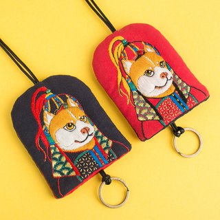 Tadao Akita DIY Kit ~ Embroidery Key Ring Bag A Wong Choi Choi Doggie Pouch Storage Bag Purse Wuyi Dog Year of the Month Mascot Gift Pure Handmade Embroidery Fortune Safe Art High Class New Chinese Original Creative Culture Creature