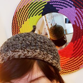 Rough hand-woven - mouse gray elf hat