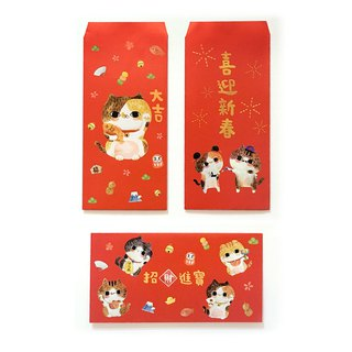 Racha flower cat picture red bag [New Year group - integrated 6 into]