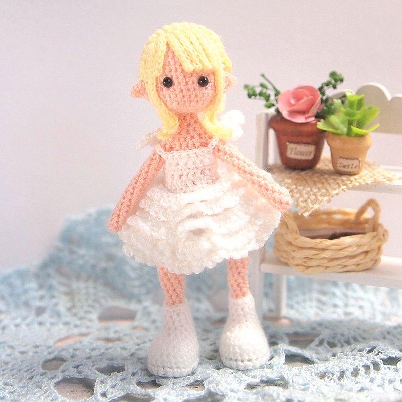 鉤針娃娃/ amigurumi /鑰匙鏈/天使女孩/玩偶【接單訂製】