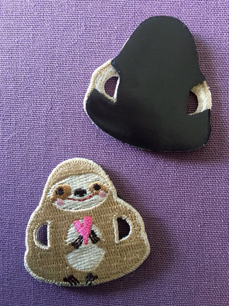 Cloth Embroidery Magnet Sloth series Sloth to you my love (single)
