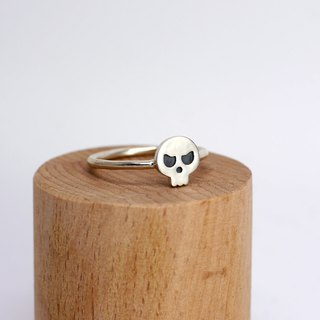 Tiny Skull Ring - Halloween Jewelry -Sterling Silver