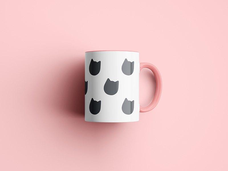 灰貓咪杯子 (4色可選)