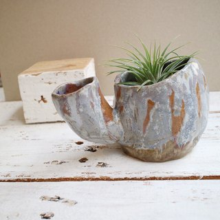 The third floor hand-made pottery cactus double potted flower b