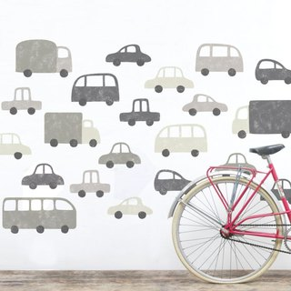 Puff cloth cloth wall stickers (gray)