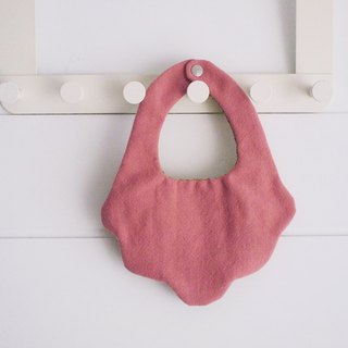 Hairmo flower plain handmade baby bib / saliva towel - bean paste