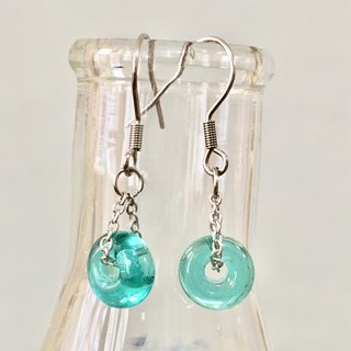 Pure Color Series - Lake Blue Transparent Glass Bead Earrings