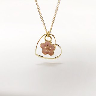 In love with sakura (limited edition) with 18k necklace