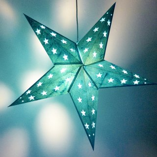 Christmas gift handmade handmade paper star light / star mang lamp / star light / origami lamp / night light - moonlight blue sky