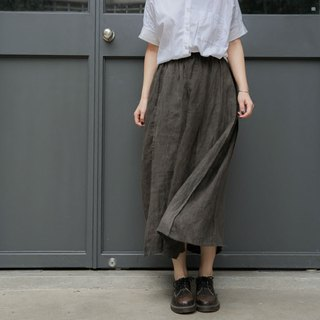 July with An Sheng | wooden box color 靛 blue earth color hanma piece double-sided retro half-length skirt