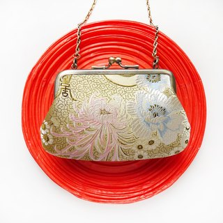 Third wife Meishan mouth gold package LASH bag / purse / shoulder bag] [Made in Taiwan
