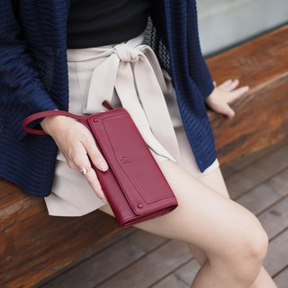 EVE : Long wallet, Long wallet, Burgundy wallet, leather wallet