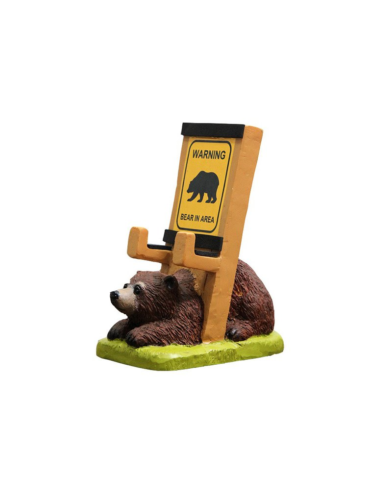Japan Magnets super cute desktop mobile phone holder / mobile phone holder (the bear is not paying attention)