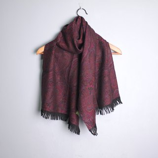 FOAK vintage peach purple retro amoeba pattern scarf