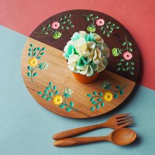 HYBRID Strawberry Party Teak Plate (Pastel Mix)