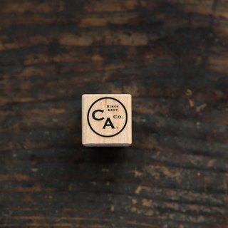 Vintage CA Logo D Maple Wood Stamp - OURS Color Atelier Series