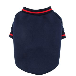 80Cotton/ 20Polyester Fleece Navy Dog Sweatshirt, Dog Top, Dog App