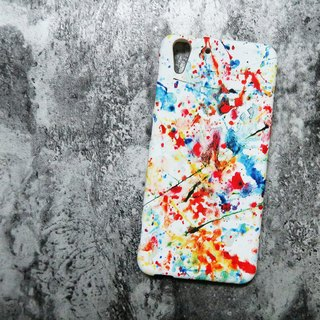 Empty shell series - white splash ink (hard shell) original mobile phone case / protective cover