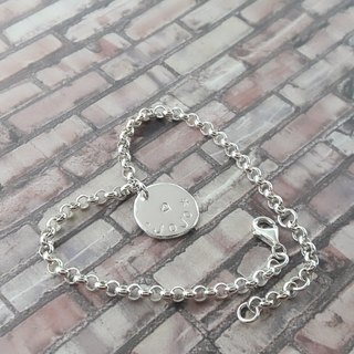 Z5 (can be typed) 925 sterling silver bracelet. Customized English alphanumeric.
