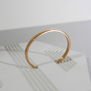 Customized Name 925 Rose Gold Minimal Bangle