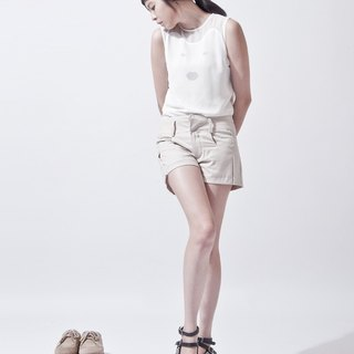 女活褶短褲 SHORTPANTS WITH SOFT PLEATS